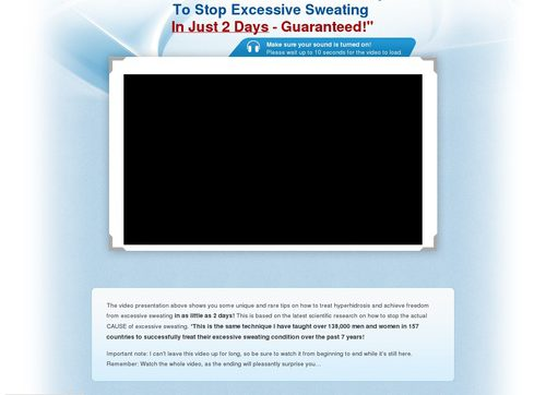 Sweat Miracle(tm) ~ #1 Excessive Sweating Offer On CB ~ $27/sale!