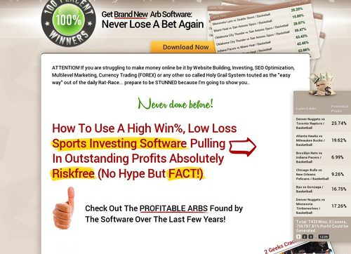 Top Arbitrage Betting Software 100percent Winners