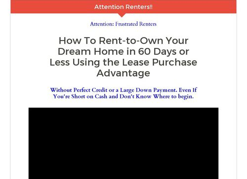 How To Rent To Own Your Dream Home Using The Lease Purchase Advantage