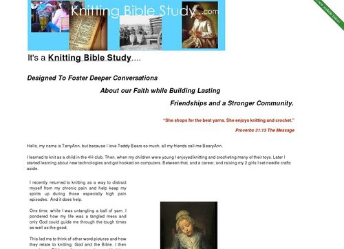 Knitting Bible Study – A Bible Study For Knit Groups!