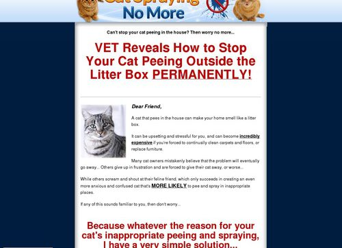Cat Spraying No More – Brand New With A 16.2% Conversion Rate!