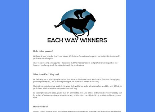 Each Way Winners