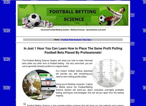 Football Bet Science
