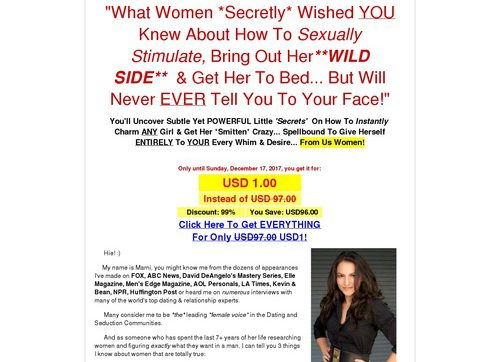 70% Commision Payout: Wing Girl Secrets Of Seducing Women