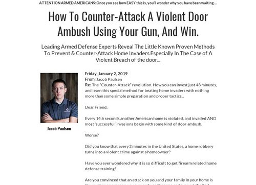 Door Ambush – Armed Home Defense Dvd Program