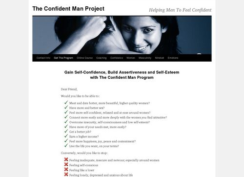 Confident Man Program Plus Women, Dating And Attraction Bonuses