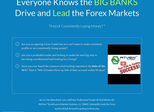 Pitview For Forex – Follow The Big Banks