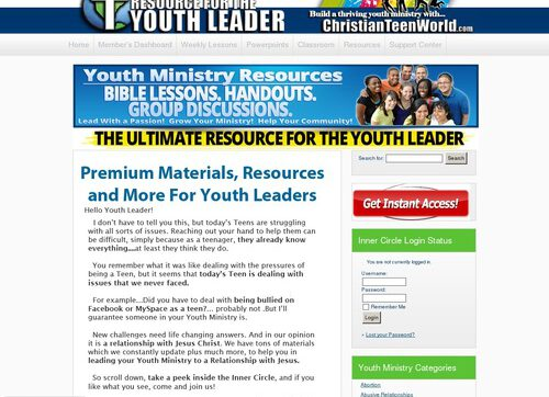 Christianteenworld.com Youth Ministry