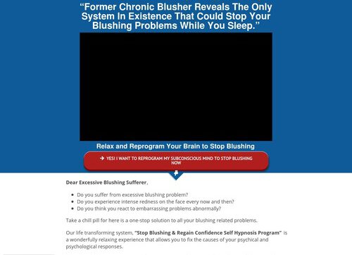 Stop Blushing Hypnosis – High Quality Program – $35/sale