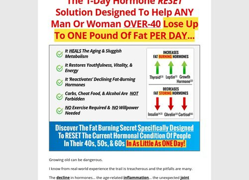 Over 40 Hormone Reset Diet – 100% Commish For Any Affiliate