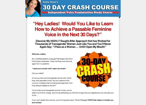 30-day Crash Course: Transgender Voice Feminization