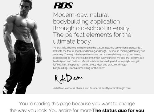 Rds Physique Building -75% Commish: Converts Like Gangbusters